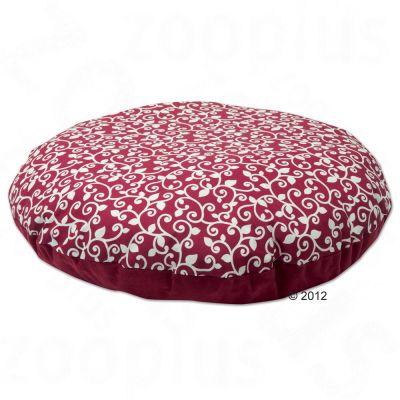 Coussin chauffant et rafraîchissant baroque, rouge- 56 cm de diamètre