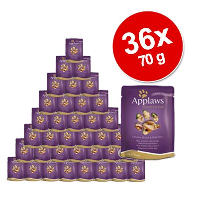 Applaws Cat Food Savings Pack 36  x 70 g - Chicken & Ostrich