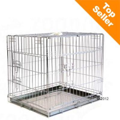 Cage de transport pour chien Double Door- L 109 x l 69 x H 75 cm (taille XL)