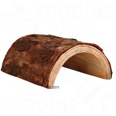 Tunnel en bois naturel pour rongeur - taille M : L 20 x l 17 x H 7,5 cm