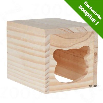 Maisonnette en bois Knuddel pour rongeur - L 15 x l 12 x H 12 cm