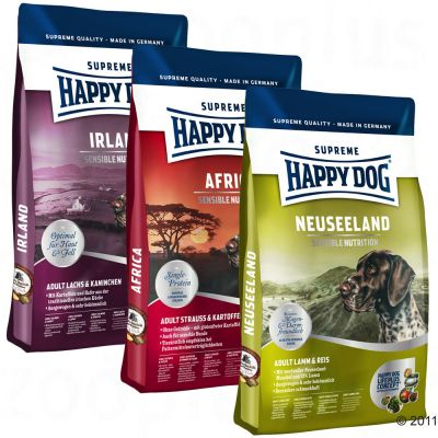 Happy Dog Culinary World Tour Taster Pack - Africa, New Zealand, Ireland