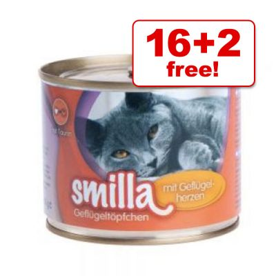 200g Smilla Poultry Pots 16 + 2 Free!* - Tender Poultry with Fish (18 x 200g)