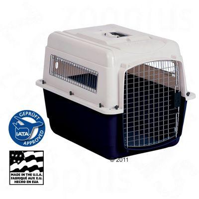 Trixie VARI Kennel Ultra - Size S: 71 x 52 x 55 cm (L x W x H) - beige/dark blue