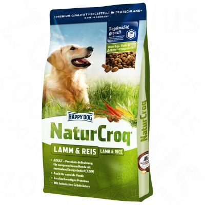 Happy Dog NaturCroq Lamm & Reis – 15 kg