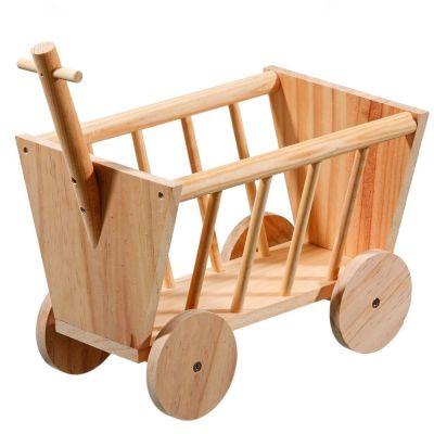 Mangeoire a foin Chariot en bois pour rongeur et lapin - L 29 x l 19 x H 21 cm