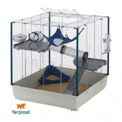 Cage pour furet Furet XL- L 80 x l 75 x H 86,5 cm (bac gris)