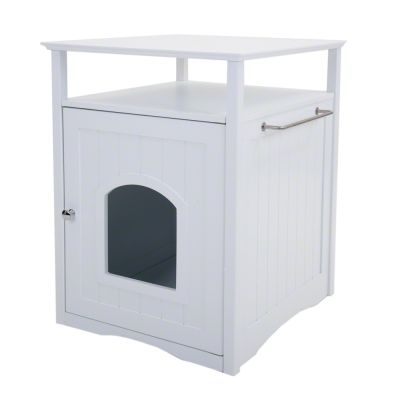 Multi Purpose Wooden Pet Den - Pet Room white (52 x  49 x  64 cm L x W x H)