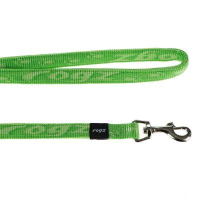 Guinzaglio Rogz Alpinist Classic Green - - Tg. L: L 180 cm  x H 20 mm