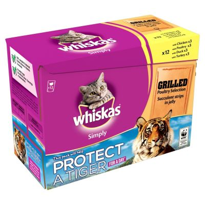 Whiskas Simply Pouches 12 x 85g - Grilled Meat