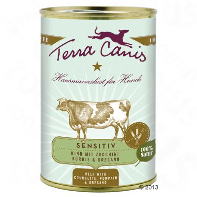 Terra Canis Sensitive 6 x 400g - Beef with Courgette, Squash & Oregano