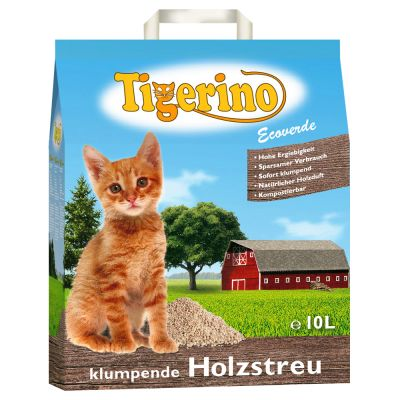 Tigerino Ecoverde - wood-based clumping cat litter - Economy Pack: 2 x 30 l