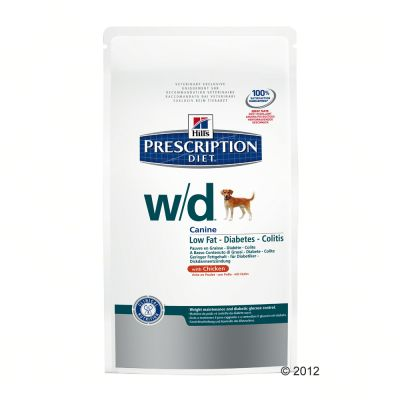 Hill's WD Prescription Diet Canine- Low Fat/Diabetes/Colitis - Economy Pack: 2 x 12kg