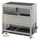 Ferplast Wooden Cage Cottage - white: 108 x 59 x 102.5 cm (L x W x H) - Small Pet Cages