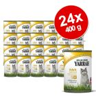 Yarrah Cat Dinner  Savings Pack 24 x 400 g - Fish with Spirulina & Seaweed