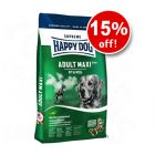Large bags of Happy Dog Supreme - 15% Off! - Fit & Well Adult Maxi (15 kg)