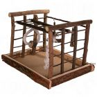 Natural Living Playground for Parakeets - Dimensions 35 x 29 x 25 cm (L x W x H)