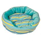 Blue Stripes Snuggle Bed - 50 cm x  20 cm (Diameter x H)