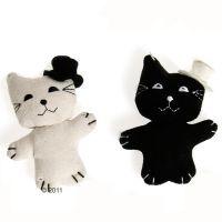 Kattenspeelgoed Kat met hoed - - 8 cm, 1 stuk