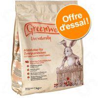 1 paquet d'1 kg de nourriture Greenwoods à prix avantageux ! - nourriture pour cochon d'Inde