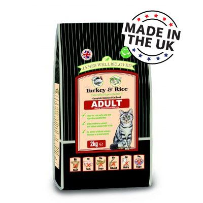 James Wellbeloved Adult Turkey & Rice Cat Food - 4 kg