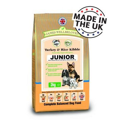 James Wellbeloved Dog Junior / Performance Turkey 15kg