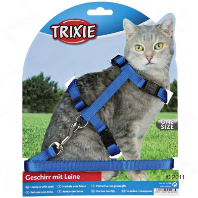 Trixie Cat Travel Set with Snap Buckles - Purple