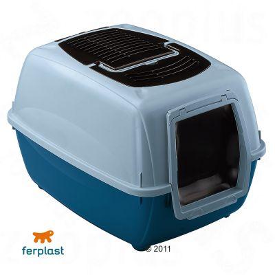 Ferplast Cat Litter Box Genica - blue/grey