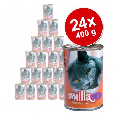 24 x 400 g Smilla Fish Pot Savings Pack - Tuna with Sardines