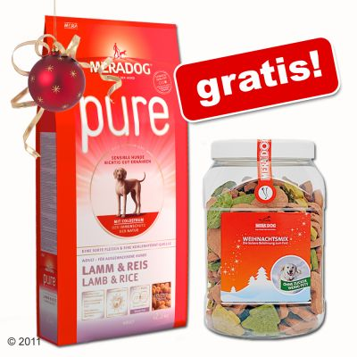 15 / 12,5 kg Mera Dog + 600 g Weihnachtskekse gratis! - Senior (15 kg)