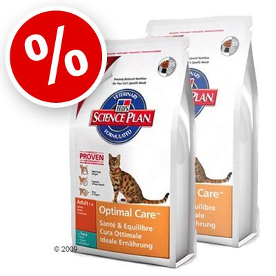 Science Plan Feline Adult Optimal Care Tuna - Economy Pack 2 x 10 kg