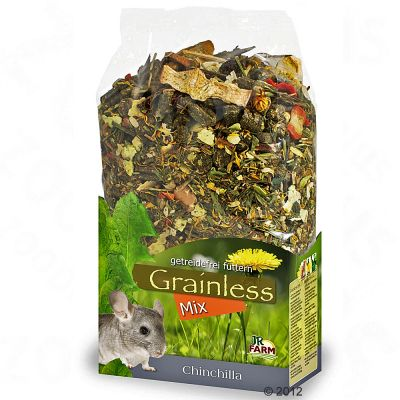 JR Grainless Mix pour chinchilla - 2 x 650 g