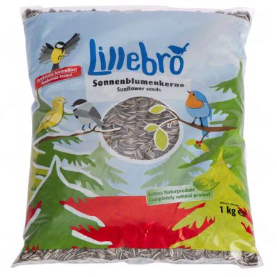 Lillebro Sunflower Seeds for Wild Birds - Saver pack 3 x 1 kg
