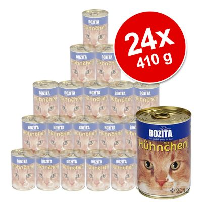Bozita Canned Food Economy Pack 24 x 410 g - with Salmon