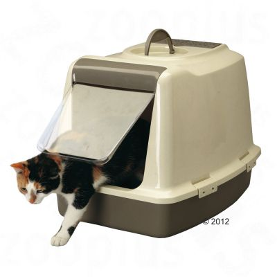 Sphinx Covered Litter Tray - grey / ivory