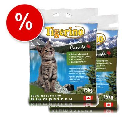 2 x 15 kg Tigerino Canada Cat Litter - 2 x 15 kg