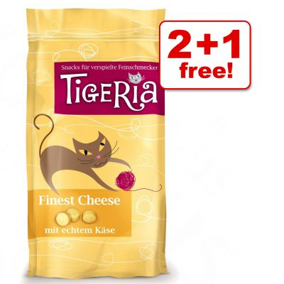 50g Tigeria Cat Treats 2 + 1 Free! - Finest Cheese (3 x 50g)