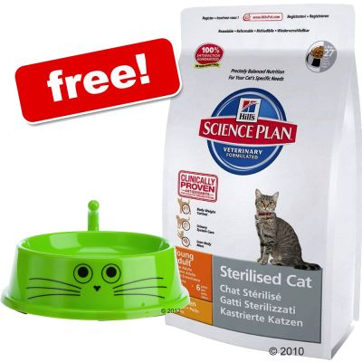 Large Bags Hill's Science Plan + zooplus Cat Bowl Free! - Feline Adult Optimal Care Lamb (10kg)