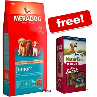 Large Bag of Mera Dog + 350g Happy Dog Turkey Snack Free! - Active (12.5 kg)