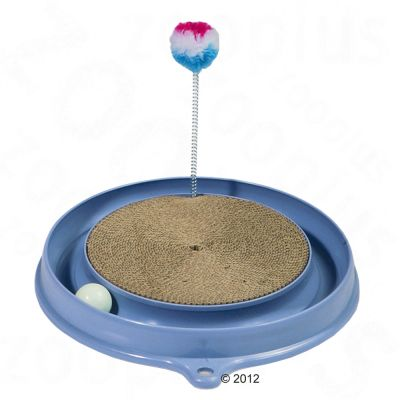 Catit Play-n-Scratch Cat Toy - misty blue