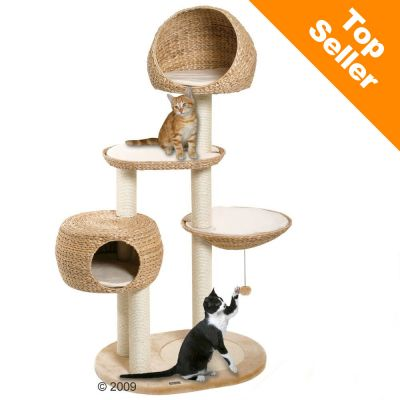 Paradise Banana-Leaf Cat Tree - beige