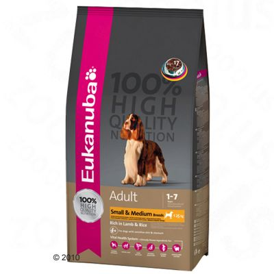 Eukanuba Adult Small & Medium Breeds Lamb & Rice - 15 kg