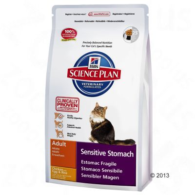 Hill's Science Plan Adult Cat Sensitive Stomach - Chicken - Economy Pack: 2 x 5kg