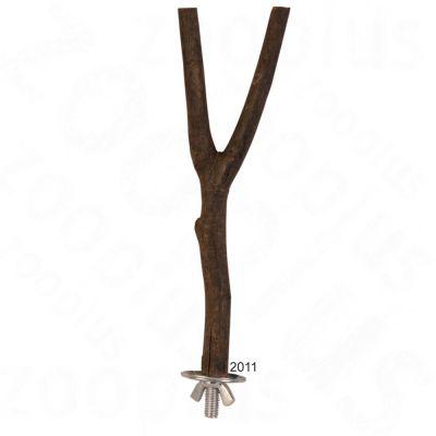 Natural Wood Y-Perch - L 20 cm, diameter 15 mm