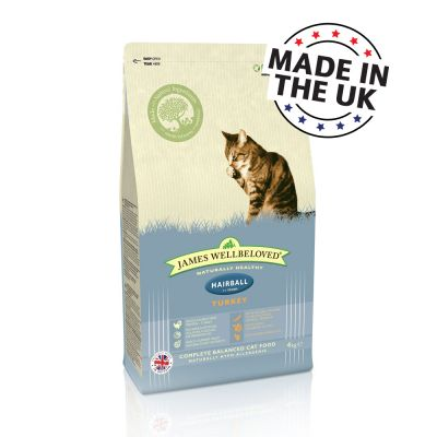 James Wellbeloved Adult Cat Hairball - Turkey - 4kg