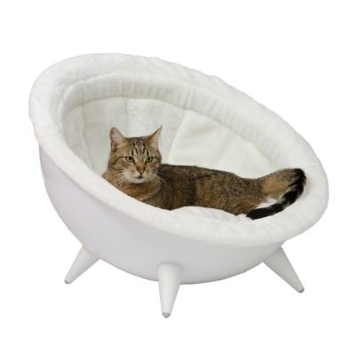 Retro Cat Nest White - Diameter 60 cm white