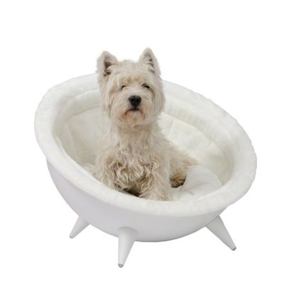 Retro Dog Nest White - Diameter 60 cm white