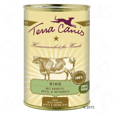 Terra Canis 6 x 400g - Turkey with Broccoli, Pear & Potato