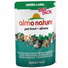 Almo Nature Green Label Raw in Pouches 6 x 55g