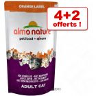 Almo Nature Orange Label 4 x 750 g + 2 x 750 g offerts !